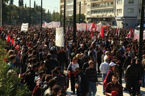 Protesters in Athens 10-19-11