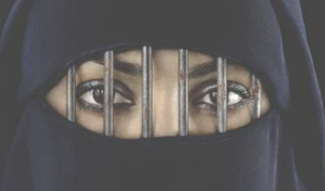 oppressed Muslim woman