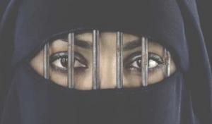 oppressed Muslim woman