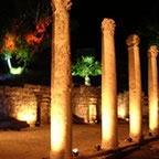Beit Shean columns at night