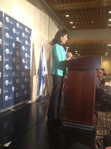 Mrs. Zaken delivers thanks from Israel's Ministry of Tourism