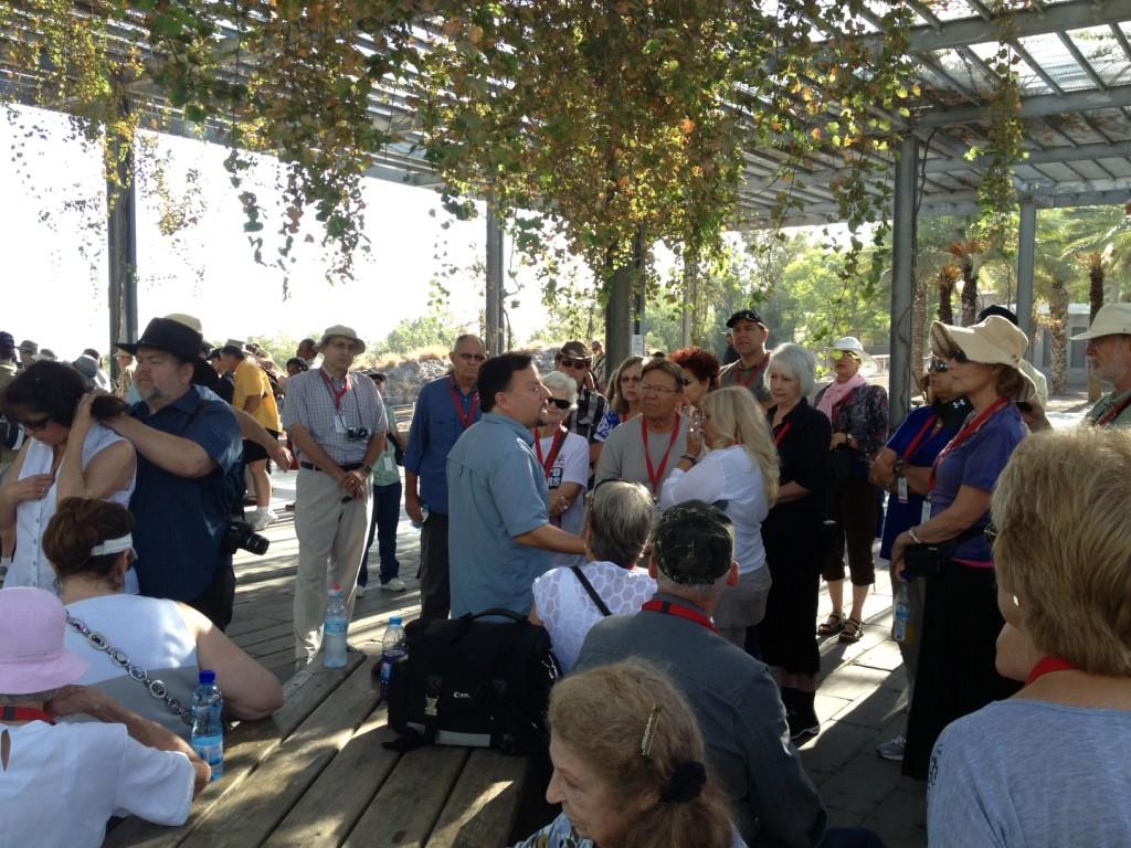 Myles teaches at Beit Shean