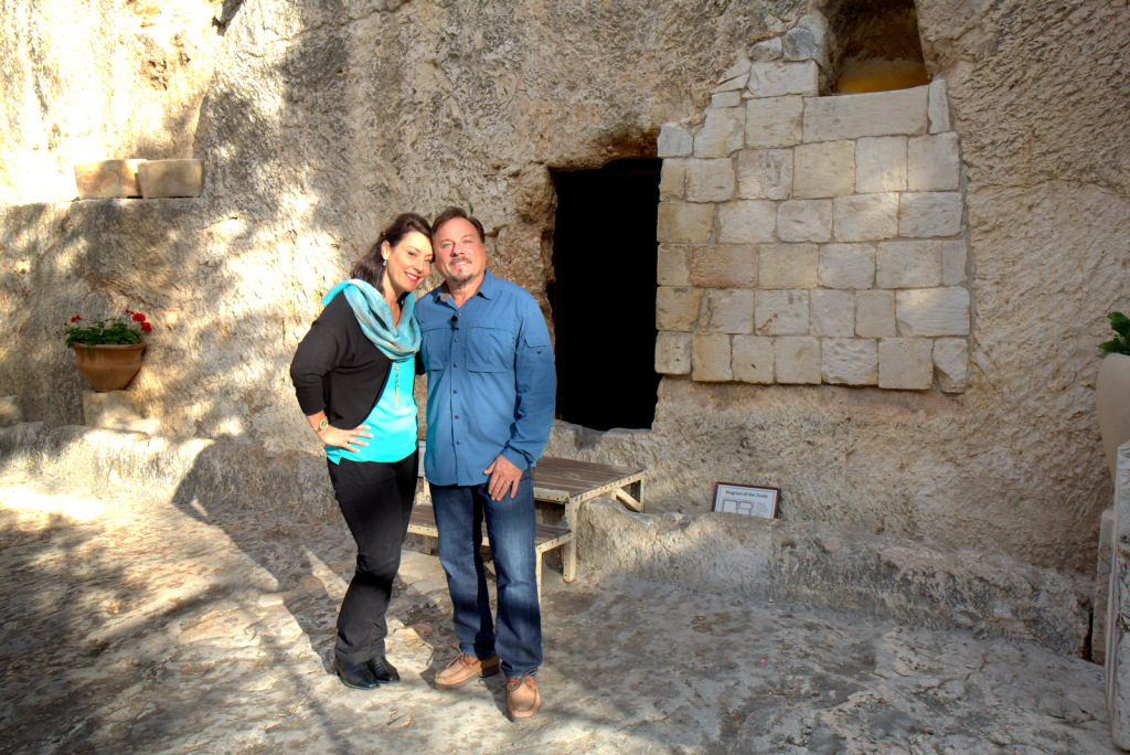 Myles and Katharine, Early morning at the Garden Tomb