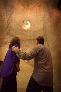 In the pit of the Church of Gallicantu