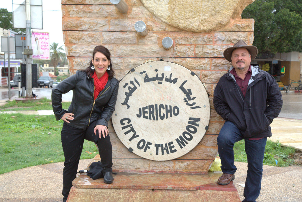 "In Jericho filming ""The Sword of Allah"" episode"