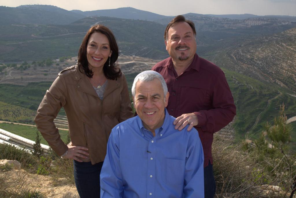Katharine and Myles with David Rubin